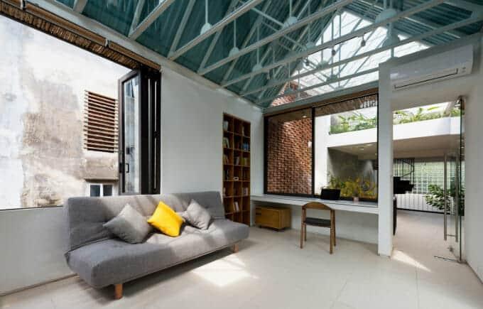 nhà chồng mái nội thất