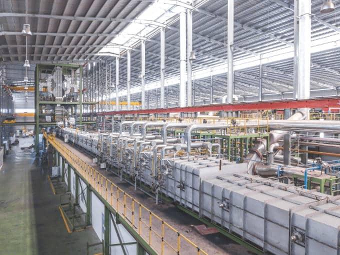 nhà xưởng sản xuất tôn Nam Kim