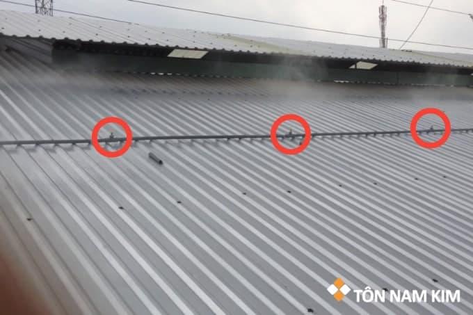hệ thống phun nước mái